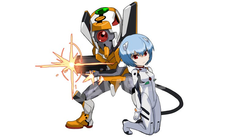 Illustration for article titled Hearts Melt When Evangelion Meets Puzzle & Dragons