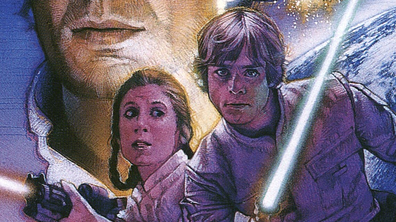 Image: Cover of Assault at Selonia, art by Drew Struzan, Bantam Spectra (Also, there's a giant floating Han head in most of the covers for these books)