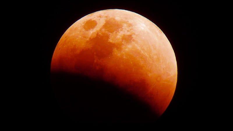 Luna rojadel pasado 31 de enero desde Filipinas