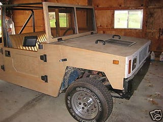 """Illustration for article titled """"Happy Jack"""" Wooden Hummer Replica A Questionable Off-Roader"""