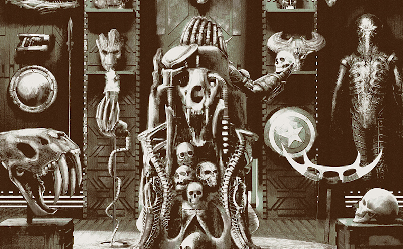 Illustration for article titled A Chilling Look Inside the Predator's Trophy Room