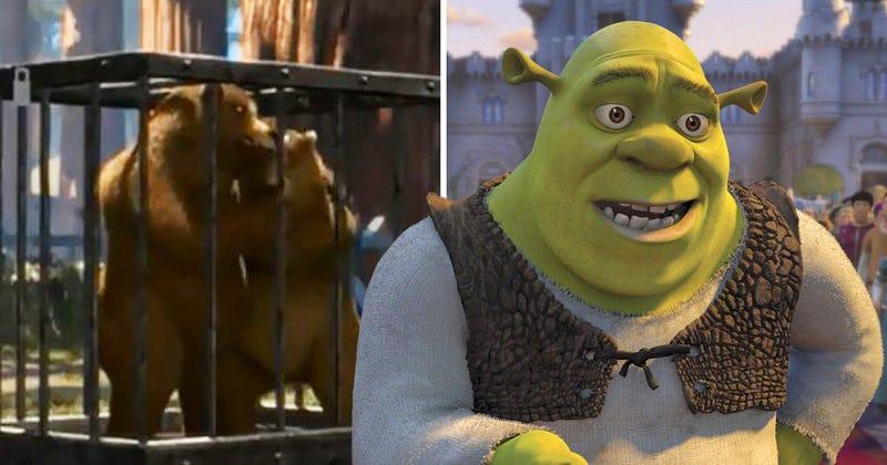 Illustration for article titled Hay una truculenta historia que te perdiste en la primera película de Shrek: el asesinato de mamá oso
