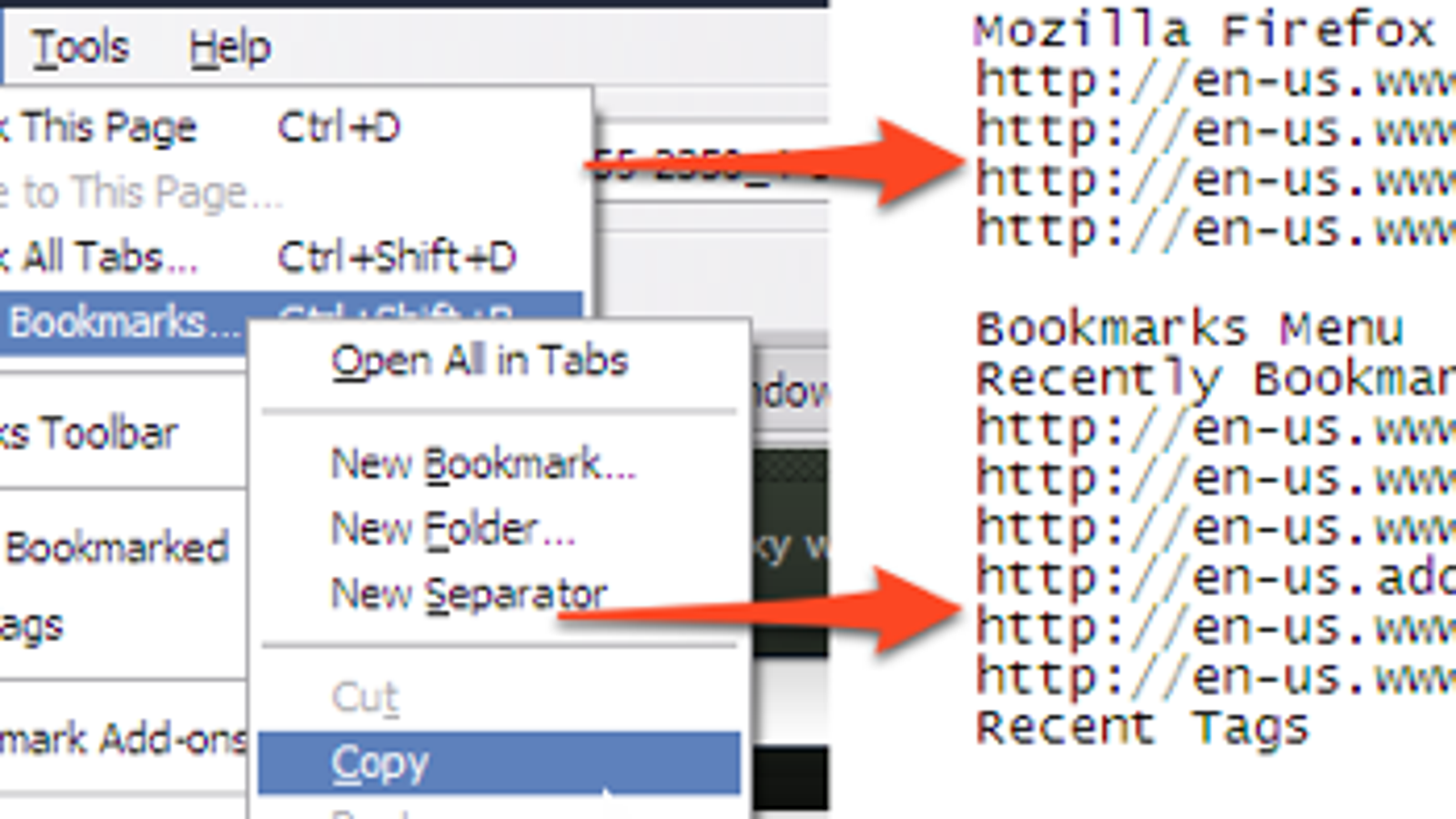 Quickly Copy and Paste Your Firefox Bookmarks