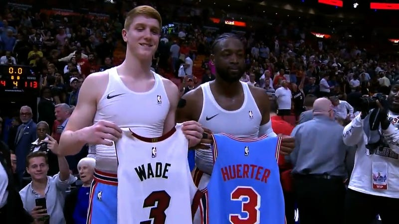 4c0998347c9 Dwyane Wade Sought Out A Rookie Who Idolized Him Growing Up To Swap Jerseys