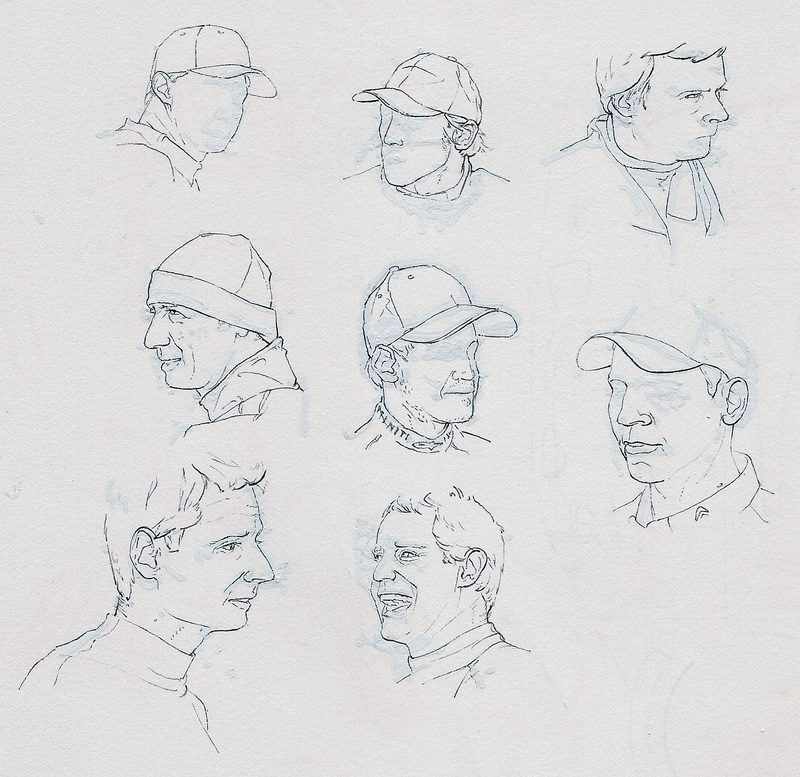 Illustration for article titled Racing Faces: Drawing More Than Cars