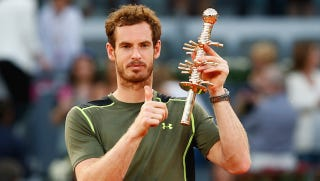 Illustration for article titled Andy Murray Beats Rafael Nadal For Madrid Open Title