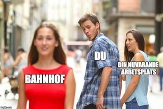 Illustration for article titled Distracted Boyfriend Meme Job Ad Discriminates Against Women, Swedish Regulators Say