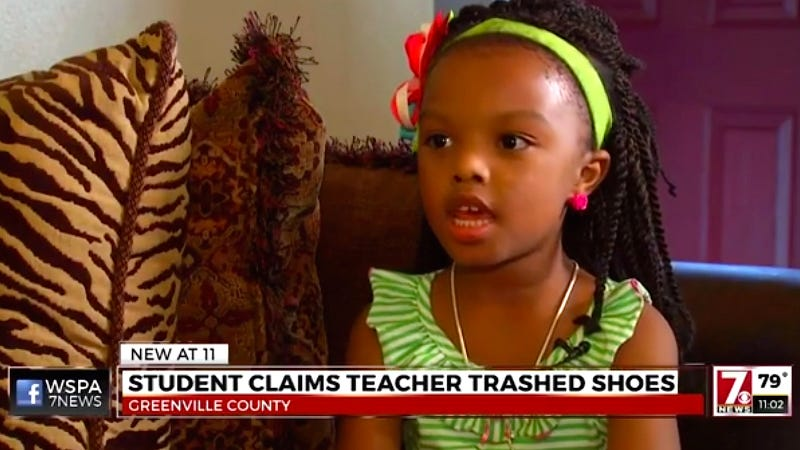 Parent: Teacher threw daughter's shoes into the trash