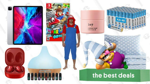 Monday s Best Deals: Mario Switch Games, iPad Pro 12.9 , 48-Pack Batteries, UGG Bedsheets, 107 Beauty, Samsung Galaxy Buds Live, Naipo Mini Massage Gun, and More