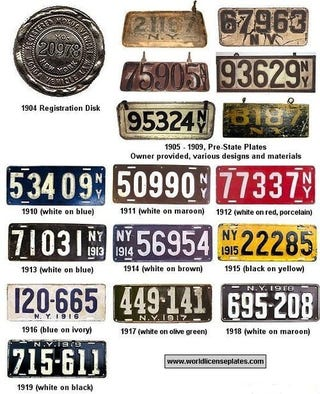 Illustration for article titled History Of New York License Plates: Photo Gallery