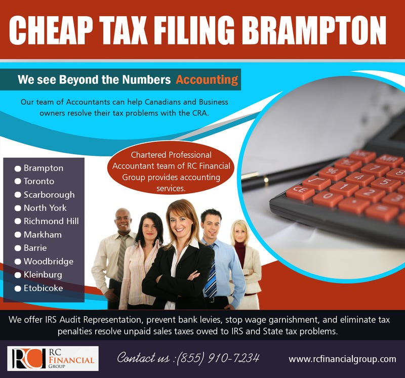 Illustration for article titled Cheap Tax Filing   Brampton | 8559107234 | rcfinancialgroup.com
