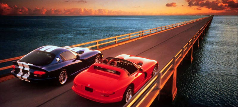 Illustration for article titled A Dodge Viper Daily Driver Is Like 'A Cartoon On PCP'