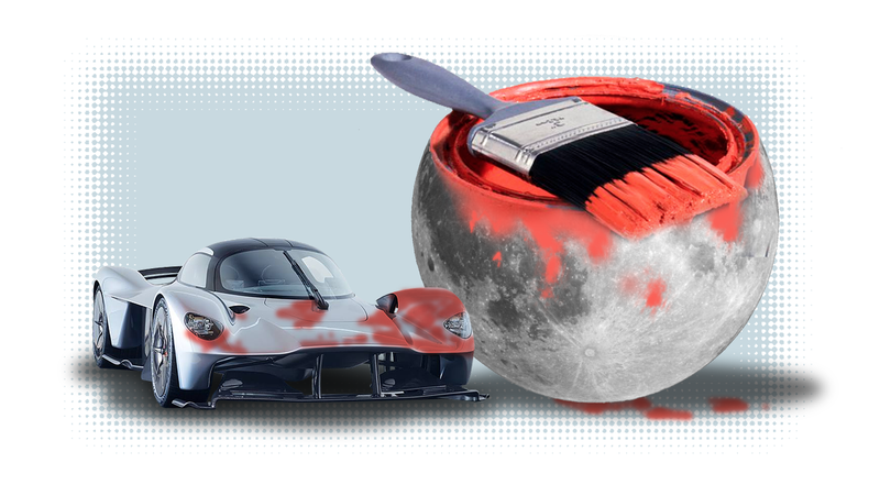 Illustration for article titled Some Guy Is Planning To Paint His Aston Martin Valkyrie With 'Moon Dust' And I Have Many Questions