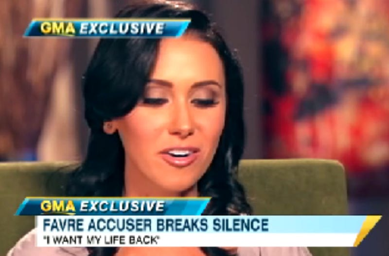 Illustration for article titled Jenn Sterger Talks Life After Brett Favre's Penis With Good Morning America Tomorrow