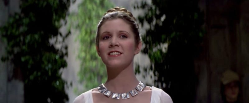 Carrie Fisher in Star Wars: A New Hope. Image: YouTube