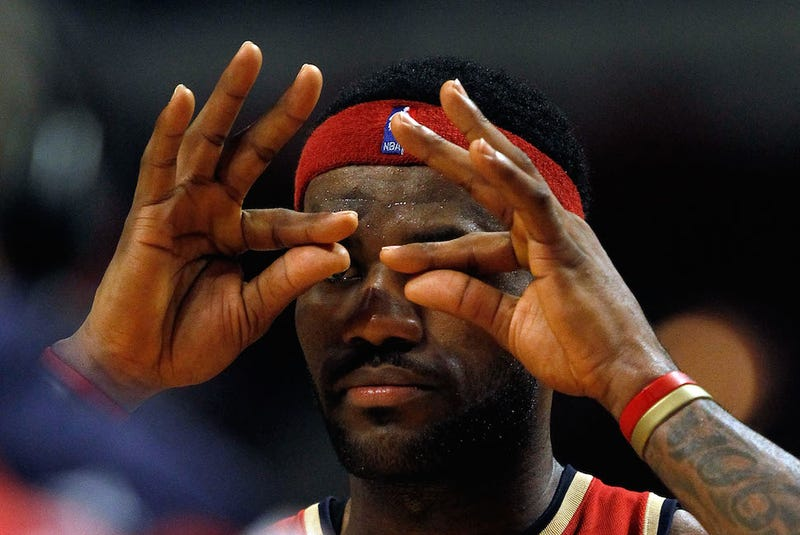 Illustration for article titled The Cavaliers And Heat Can't Make That Three-Point Goggle Sign In Brazil
