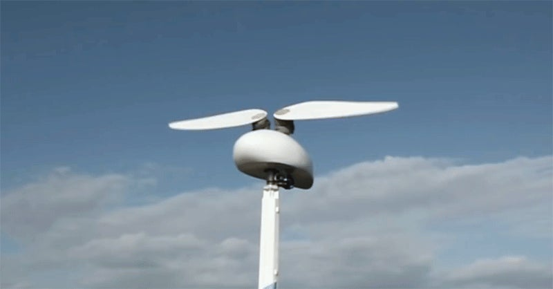 A Wind Turbine With Flapping Wings Might Be Quieter And