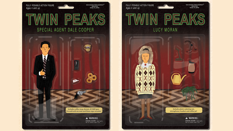 Illustration for article titled Twin Peaks Action Figures Have The Best Accessories Possible