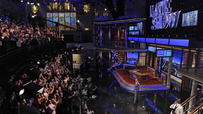 Colbert's Late Show in its opening week.