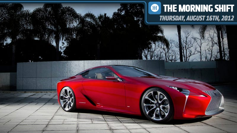 Illustration for article titled Lexus Plans LF-LC, Mercedes Nabs Federer, And GM Workers Stitch Up Their Faces