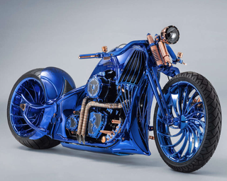 Illustration for article titled blue-edition Harley anyone?