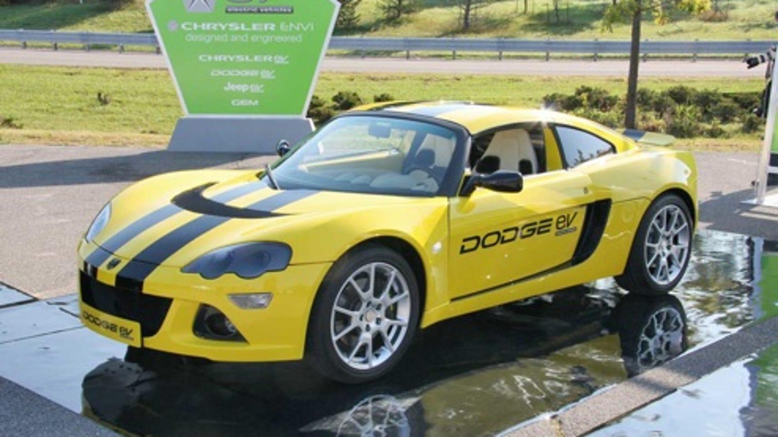 chrysler unveils dodge ev  tesla   electric sports car