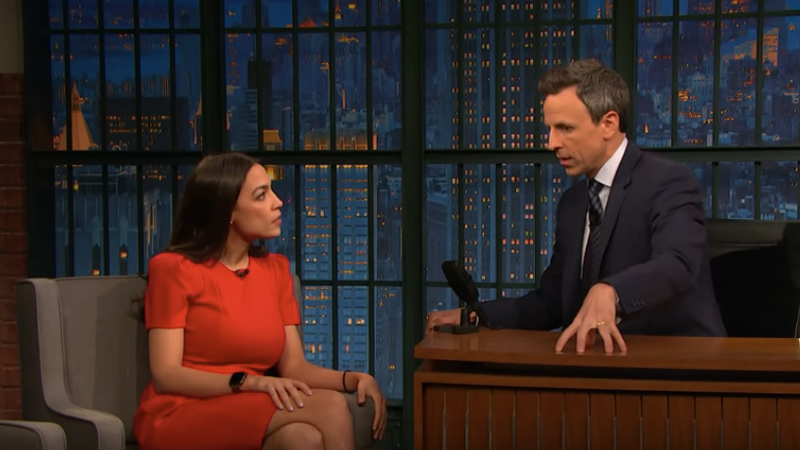 No, the Green New Deal doesn't ban cow farts and ice cream, explains Alexandria Ocasio-Cortez on Late Night