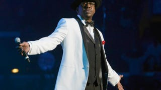Bobby Brown performing onstage with New Edition in Los Angeles June 2013.Earl Gibson III/Getty Images for BET