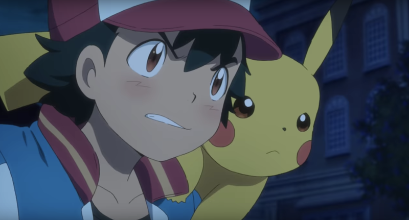 Ash and Pikachu are ready for battle.