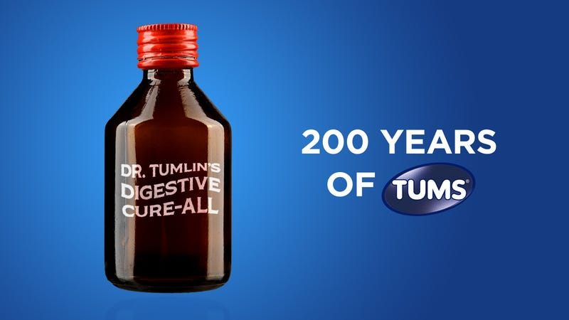 Illustration for article titled Awesome: Tums Has Released A Commemorative 200th Anniversary Tums Bottle Because They Assume It's Probably Been 200 Years Of Tums By Now