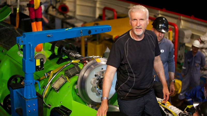 James Cameron, seen here in the film Deepsea Challenge, knows a thing or two about the ocean.