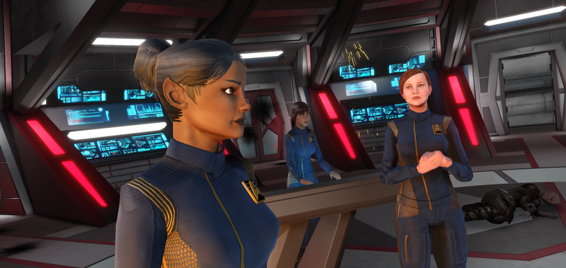 My Age of Discovery Captain, a Vulcan named Palesa, teams up with Tilly in a training cruise gone horribly wrong.