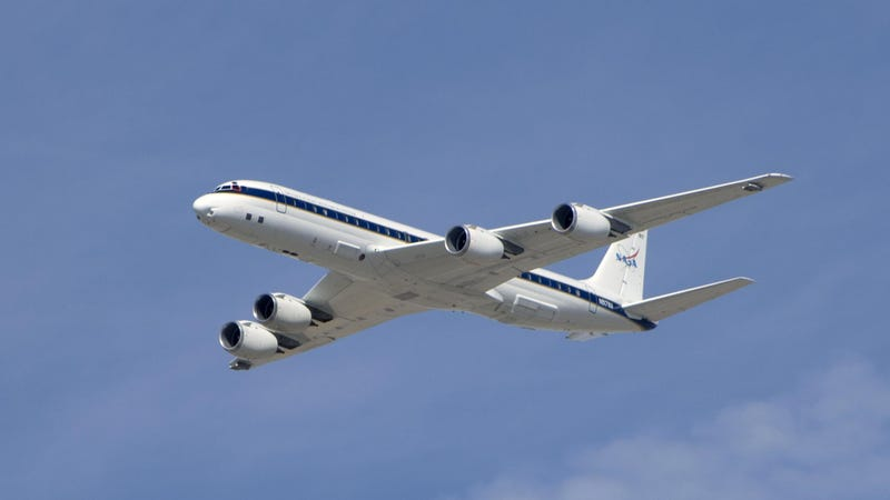 A NASA DC-8 like the one used to find the particle (Image: NASA)