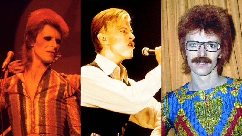 David Bowie's various personas.