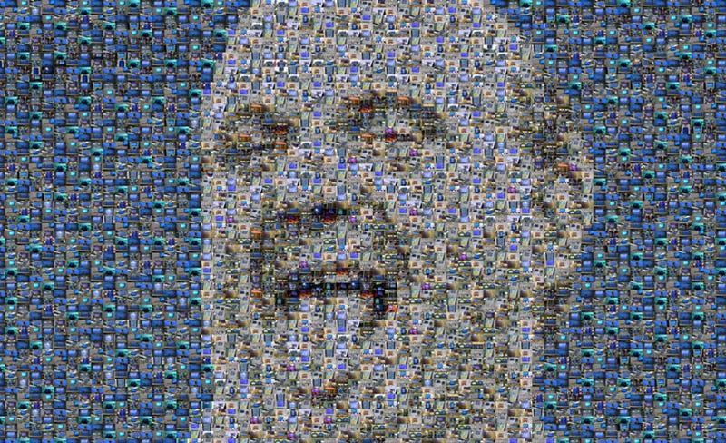 Illustration for article titled Steve Ballmer Rendered in BSODs