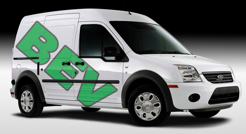 Illustration for article titled 2010 Ford Transit Connect Officially First Ford Electric Vehicle