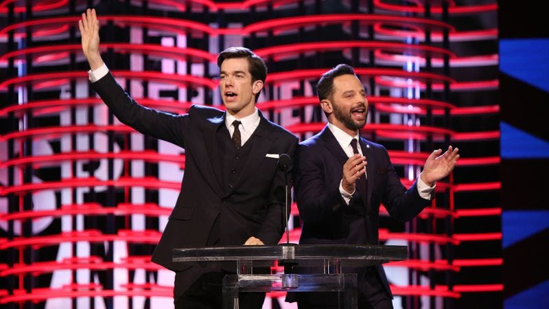 Mulaney and Kroll at the Film Independent Spirit Awards Saturday (Photo: Photo by Randall Michelson/Getty Images for Film Independent)