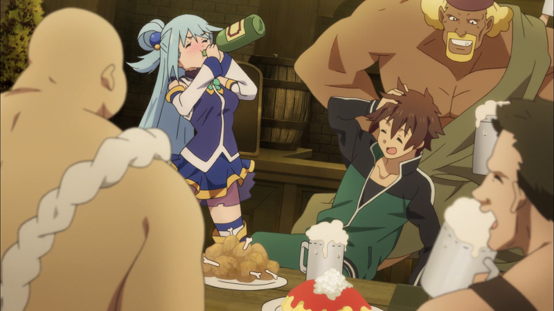 Illustration for article titled Konosuba is like a drunken game of Dungeons & Dragons