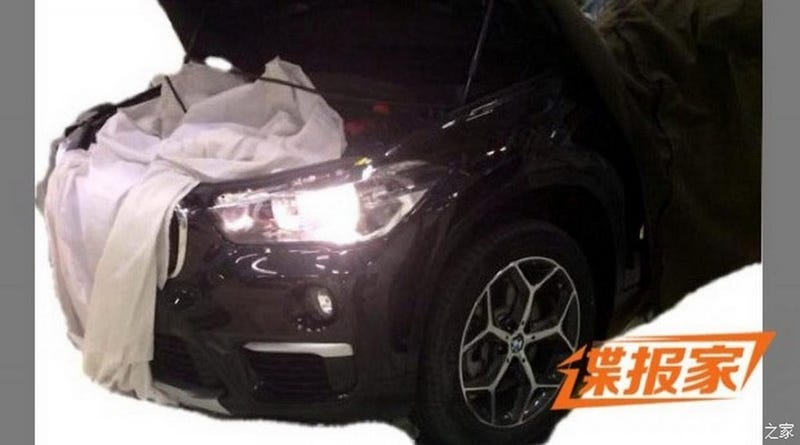 Illustration for article titled Chinese Spy Photo Reveals Front End Of 2016 BMW X1
