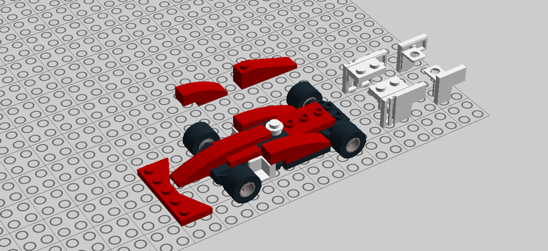 Illustration for article titled I'm currently building a little Ferrari SF-70H in LEGO
