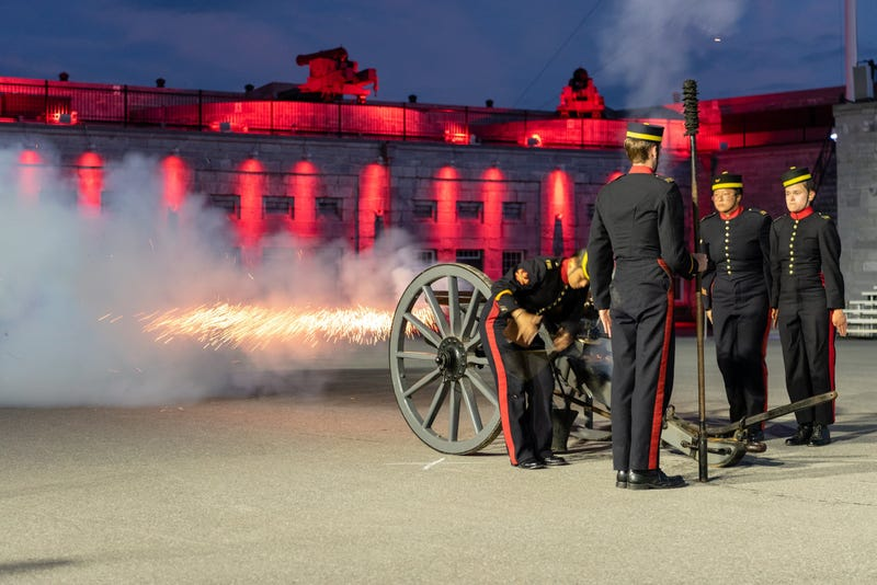Illustration for article titled Selected Pictures from the Fort Henry Sunset Ceremony 2019 Finale