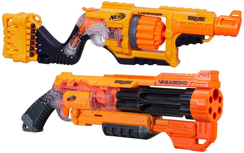 Illustration for article titled Nerf's New See-Through Blasters Reveal How Their Firing Mechanisms Work