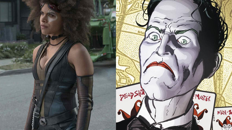 Zazie Beetz in Deadpool 2, and the Joker in Batman #26.