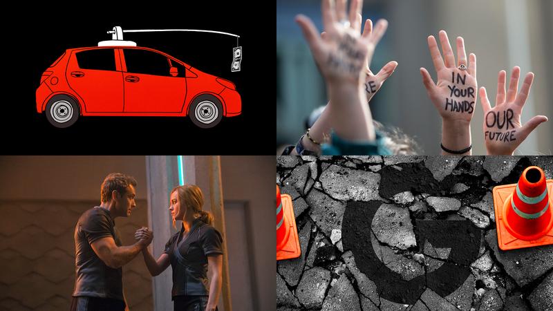 Clockwise from top left: Jim Cooke (Gizmodo); Getty; Elena Scotti (Shutterstock); Marvel Studios.