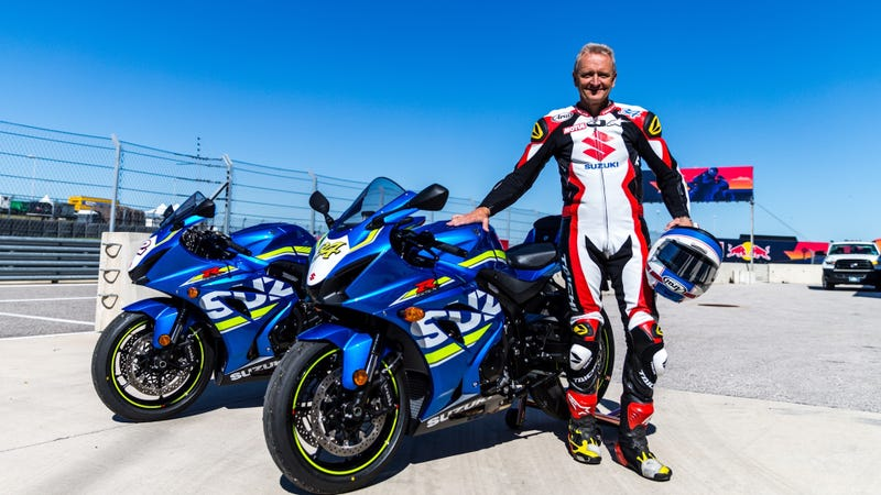 Kevin Schwantz at Circuit of The Americas on Sunday. Photo credit: Kurt Bradley