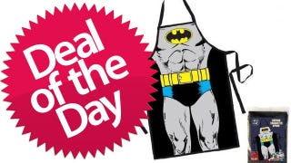 Illustration for article titled This Batman Apron Is Your Dance-With-The-Deviled-Eggs-In-The-Pale-Moonlight Deal of the Day