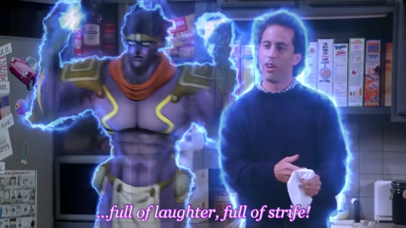 Illustration for article titled If Seinfeld Were JoJo's Bizarre Adventure