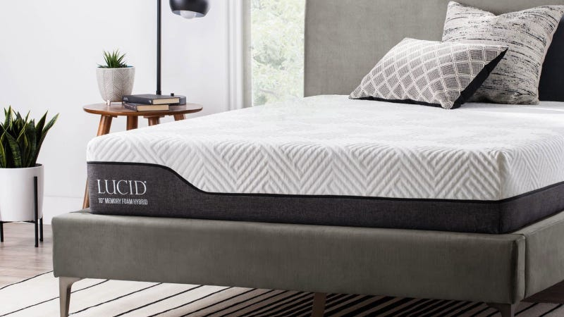 Lucid mattress and frame Gold Box | Amazon