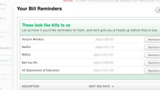 Illustration for article titled Mint's New Bill Reminders Help You Stay on Top of Upcoming Expenses
