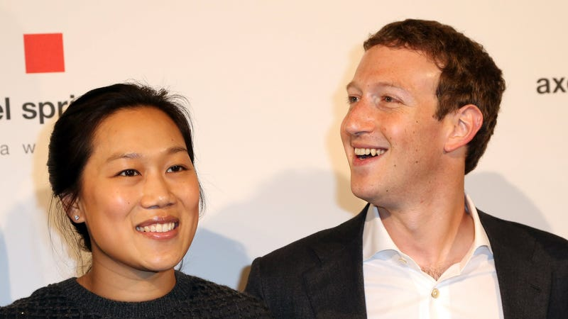 Mark Zuckerberg and his wife Priscilla Chan (Image: Getty)